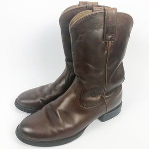 Ariat Womens Cowboy Brown Leather Boots 7.5 Medium